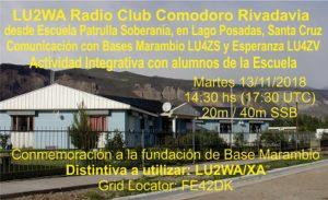 """Escuela Patrulla Soberanía 2 300x183 - LU2WA en Escuela """"Patrulla Soberanía"""", Lago Posadas, Santa Cruz"""