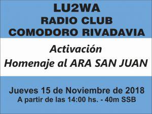 Homenaje Ara San Juan 300x225 - Activación Homenaje Submarino ARA San Juan - 15/11/18