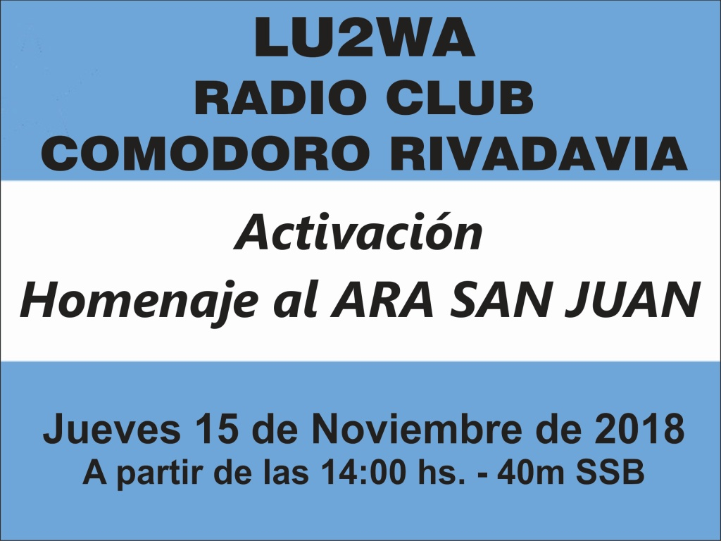 Homenaje Ara San Juan - Activación Homenaje Submarino ARA San Juan - 15/11/18