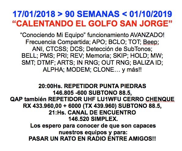 2019 10 01 calentando 90 - Calentando el Golfo San Jorge Semana 90 - 01/10/19