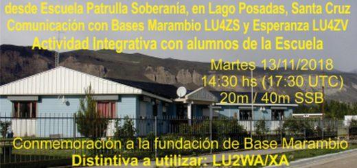 """Escuela Patrulla Soberanía 2 520x245 - LU2WA en Escuela """"Patrulla Soberanía"""", Lago Posadas, Santa Cruz"""