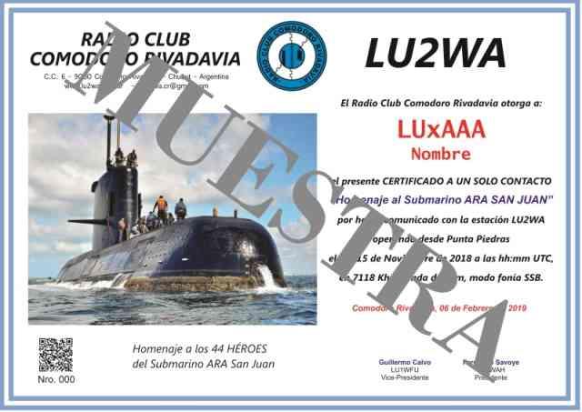 Certificado ARA San Juan modelo web - Certificado ARA San Juan 15-16 Nov. 2018 - Listado